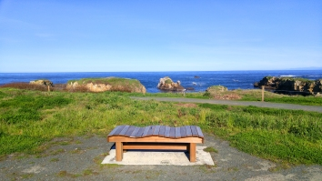 Wave watching bench on the Mendocino Coast