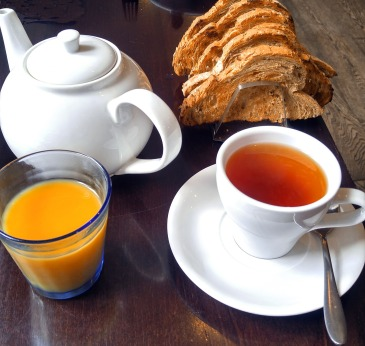 Morning tea at Cornwall Estate and Spa, Cornwall England. Photo: Mary Charlebois