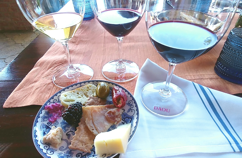 Luscious food and wine pairing at DAOU Winery, Paso Robles CA.