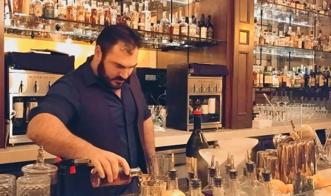 Mixologist at Eleven Twenty-two Cocktail Lounge and Speakeasy, Paso Robles CA.