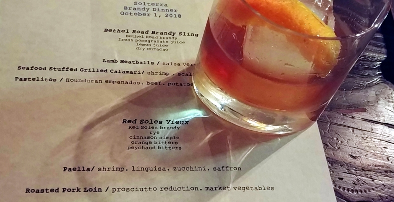 Food and brandy pairing at La Cosecha, downtown Paso Robles California. Photo: Mary Charlebois