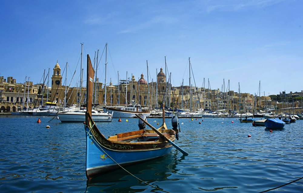 Birgu Bay, Malta. All photos from Visit Malta.