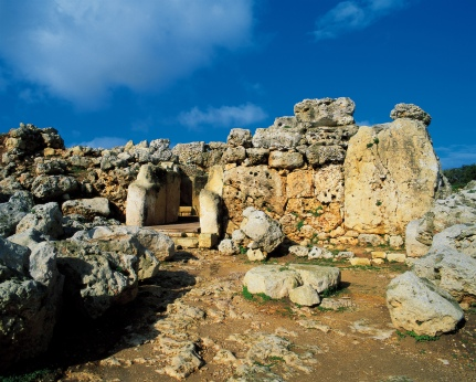 Ggantija Temples on Gozo. Older than the Egyptian Pyramids.