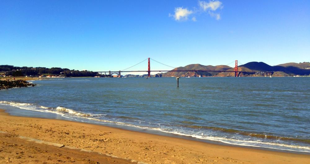 San Francisco Bay and Golden Gate Bridge. Photo: Mary Charlebois.