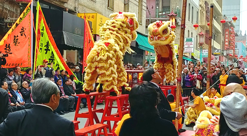 Lion Dance, San Francisco Chinatown. Photo: Mary Charlebois.