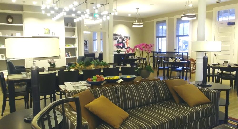 Guest lounge at Lodge at Presidio, San Francisco CA. Photo: Mary Charlebois.
