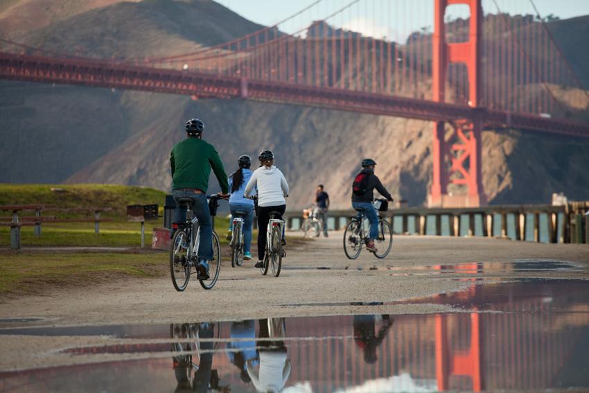 San Francisco Presidio cycle trail. Photo courtesy of Presidio Trust.