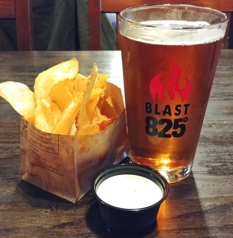 Beer with chips and dip. Blast Brewery, Santa Maria California Photo: Mary Charlebois