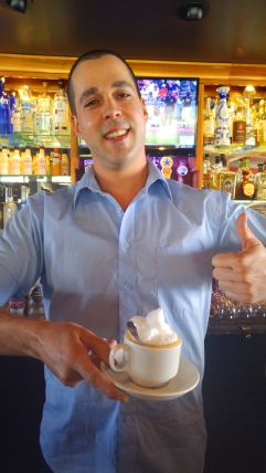 Coffee with Kahlua from Jarrad at Point Noyo (now closed), Fort Bragg California. Photo: Mary Charlebois