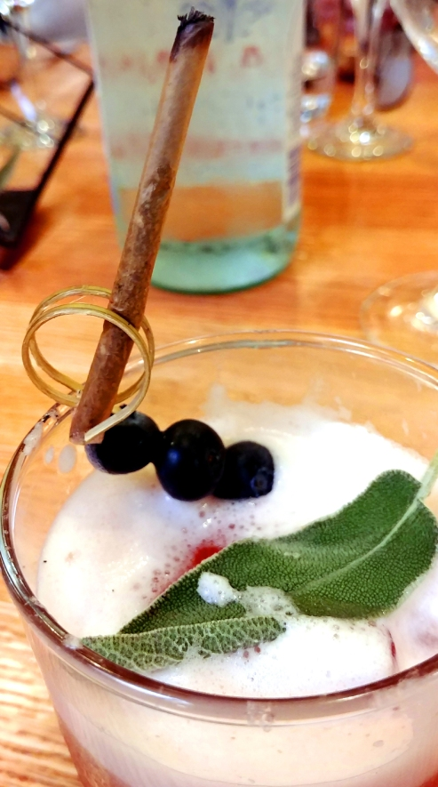 Blueberry Sage Gin Fizz. Perch + Plow, downtown Santa Rosa California. Photo: Mary Charlebois