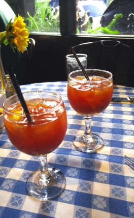 A pair of Bloodys at Perrys in Cow Hollow, San Francisco California. Photo: Mary Charlebois