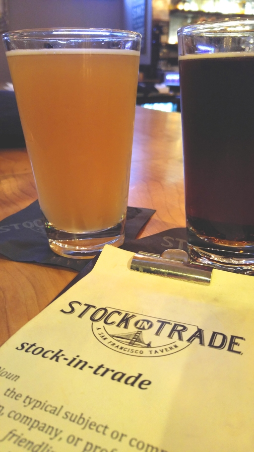 Light and dark pints at Stock in Trade, Cow Hollow, San Francisco California. Photo: Mary Charlebois