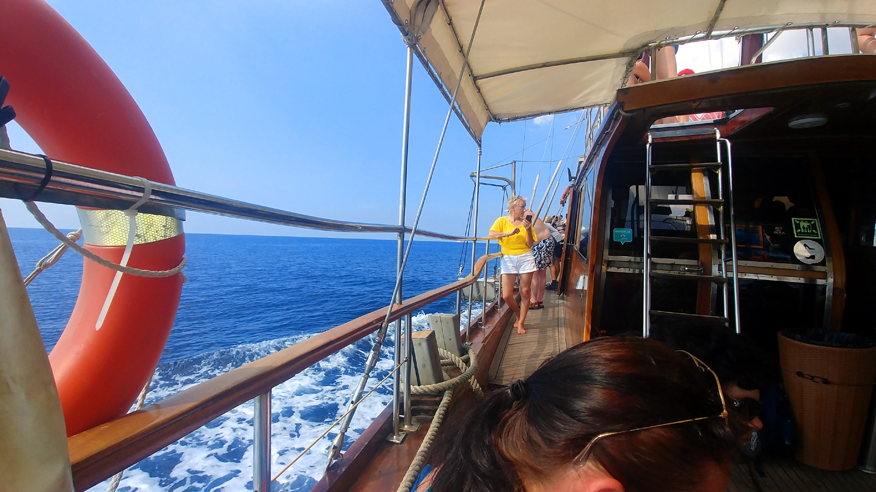 Cruising the Maltese islands aboard Hera. Photo: Mary Charlebois