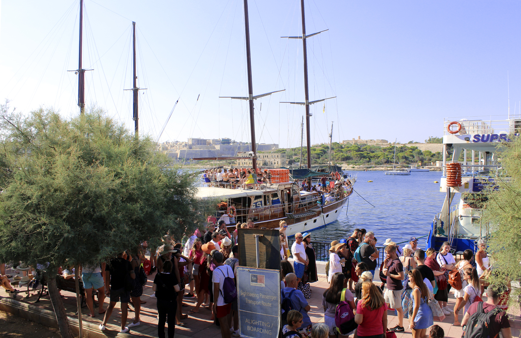 Hera Cruise's boat, Hera, loaded and ready to tour the Maltese Islands. Photo: Mary Charlebois