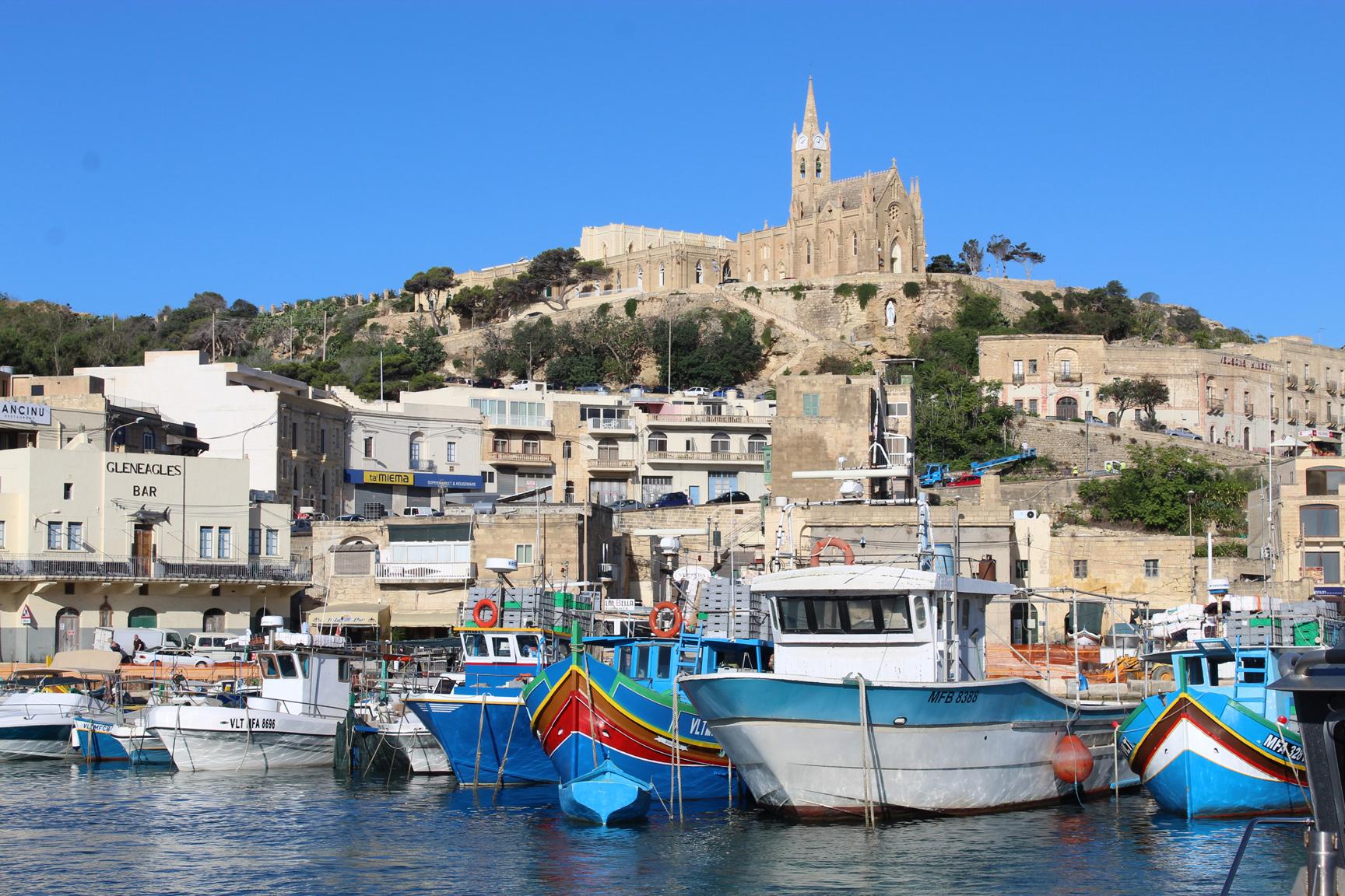 Mgarr Harbor, Gozo Malta. Photo: Mary Charlebois