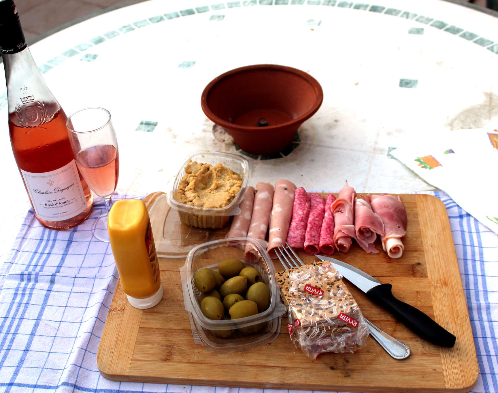 My homemade Maltese Plate with French wine. Photo: Mary Charlebois