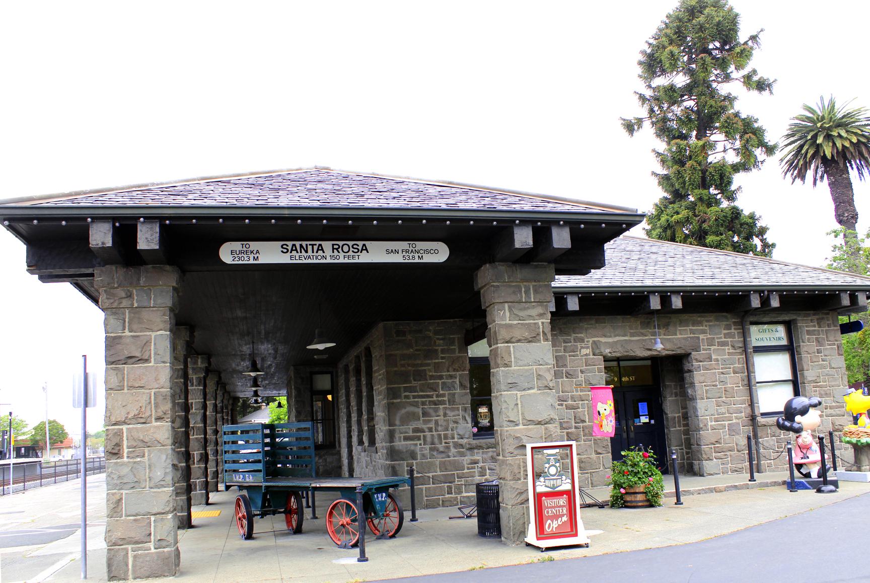 Santa Rosa CA downtown train station